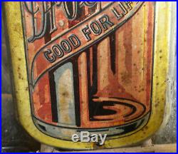 Original Vintage Dr Pepper c1930's Embossed Metal Soda Pop Thermometer Sign 17