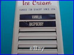 Original Vintage Hersheys Ice Cream Embossed Metal Sign Advertising Menu