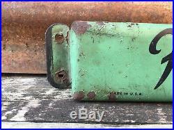 Original Vintage Hires Root Beer Sign Metal Soda Door Push Sign 2 3/4 x 32 1/2
