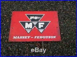 Original Vintage Massey Ferguson Tractor Dealer Garage Metal Sign