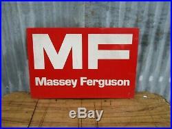 Original Vintage Massey Ferguson Tractor Dealer Large Metal Sign