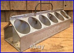 Original Vintage Metal COCA COLA 12 Glass Bottle Delivery Holder Carrier Sign