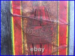 Original Vintage Metal Coke Sign COCA COLA Soda Sign 1923 Christmas Bottle 54