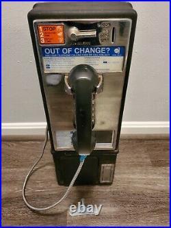 Original Vintage Payphone Metal Push Button Telephone Sign Coin-Op No Vault Key