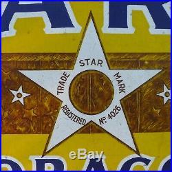 Original Vintage STAR TOBACCO Enameled Metal SIGN- 24 x 12 Free Shipping