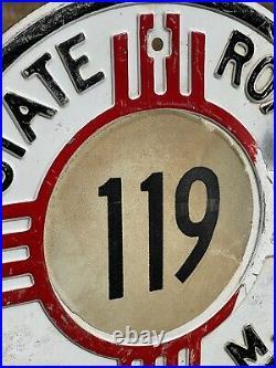 Original Vintage STATE ROAD NEW MEXICO Embossed Metal sign 16 Highway Road