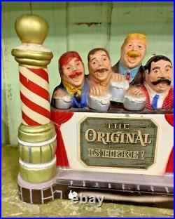 Pabst Blue Ribbon beer sign barbershop quartet guys 1959 vintage metal statue