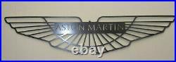 Premium Aston Martin Car Logo Metal Sign Hand Finished Vintage Car Wall Art