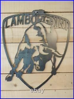 Premium Lamborghini Metal Wall Sign Handmade vintage Man Cave Car Garage Vintage