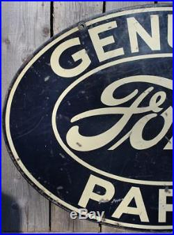 RARE 1940's VINTAGE FORD PARTS DEALER (16 X 24 INCH) METAL SIGN CANADA ORIGINAL