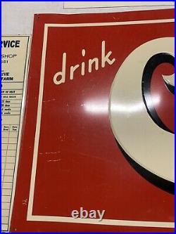 RARE CLEM's COLA Soda Advertising Sign Vintage Clems Metal General Store Pop