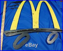 RARE Cut Metal VTG McDonald's M Golden Arches Sign Speedy Wings Flange 2-Sided