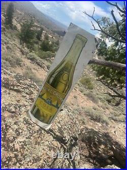 RARE Large 1930 Rc Royal Crown Cola Vintage Antique POP Bottle DRINK Metal Sign
