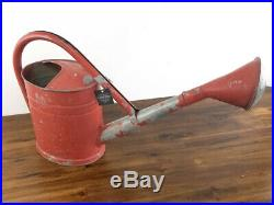 RARE Vintage German Flying Bat 10 TGL Galvanized Watering Can Red