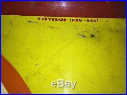 Rare Embossed Metal NEHI SIGN 1504 M. C. A 686 Vintage Antique