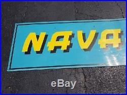 Rare Large Navajo Trucking Metal Dealer Sign Indian Semi Gas Oil Farm Vintage