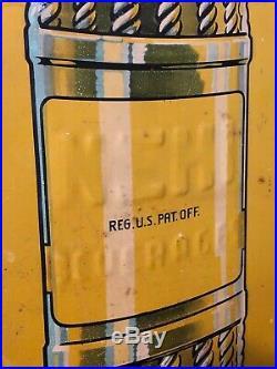 Rare Large Vintage 1930's Nehi Soda Pop Bottle 42 Embossed Metal Sign