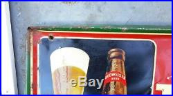 Rare Large Vintage 1948 Budweiser Beer Bar Tavern 54 Embossed Metal Sign