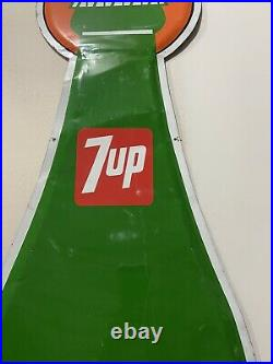 Rare Large Vintage 1976 7Up 7 Up Peter Max Style Art Soda Pop 71 Metal Sign