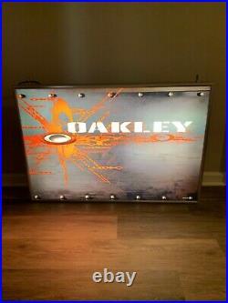 Rare Oakley Sunglasse Vintage Display Metal Romeo hanging Sign 1/100 Big