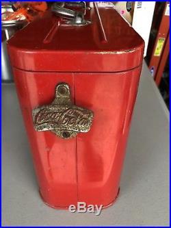Rare Vintage 1940's Coca Cola Soda Pop Airline Cooler Embossed Metal Original