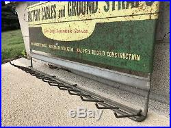 Rare Vintage 1950's John Deere Farm Tractor Battery Cable Gas Oil 22 Metal Sign