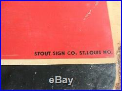 Rare Vintage 1951 7Up Soda Pop Country store 7 up Metal Sign Stout Sign 30x39