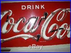Rare. Vintage 1956 Coca-Cola Neon Metal Sign, Collectors Dream, Very Nice
