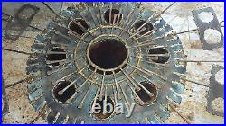 Rare Vintage 1967 Signed Curtis Jere' Stained Glass Metal Art Wall Sculpture