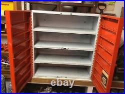 Rare Vintage AC Delco Gas And Oil Service Station Automotive Metal Cabinet