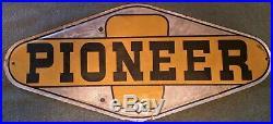 Rare Vintage Metal Pioneer Seed Corn Sign
