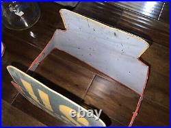 Rare Vintage Original U. S. ROYAL TIRES Display Stand Metal Sign Gas & Oil