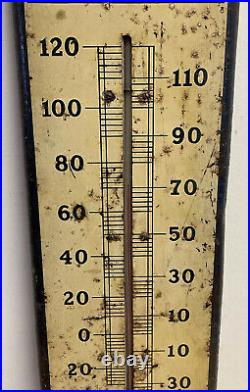 Rare Vintage Pepsi Cola Soda Pop 27 Metal Thermometer Sign WORKS