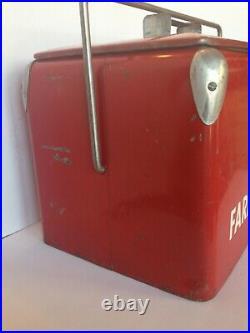 Rare Vintage Phillips 66 Farm Service Ice Chest Cooler Collectible Home Decor