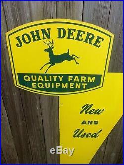 Rare Vtg 50s John Deere New & Used Dealership Dealer DST Metal 60 Sign EX+ COND
