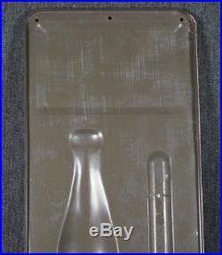 Royal Crown Cola Metal Sign Embossed Advertising Thermometer Vintage Antique