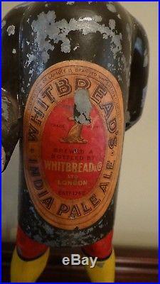Scarce 1930s Vtg Whitbread Ale Metal Beer Sign Back Bar Bottle Figurine Statue