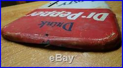 Scarce 1955 Vintage Large Dr Pepper Soda Pop Tin Metal Sign Thermometer