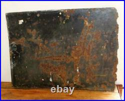 Spooner & Bailey Fertiliser enamel sign advertising mancave metal vintage retro