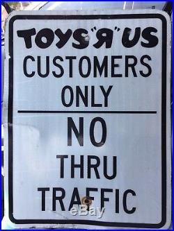 Toys R Us Vintage Metal Parking Sign