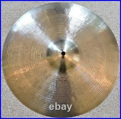 Turkish K. Zildjian & Co Istanbul Pair 14 Hi-Hat Cymbals 1960's Vintage Signed