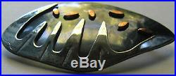Unusual Signed Vintage Mexico Sterling Silver Mixed Metals Modernist Pin Brooch