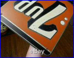 Unusual Vintage 1950s Metal Embossed 7up Advertising Soda Sign Outlined Letters