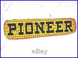 VINTAGE 1940's PIONEER SEED EAR CORN FARM 14 METAL SIGN-NICE-ORIGINAL
