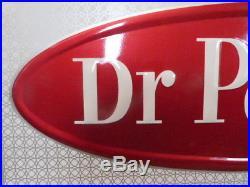 VINTAGE Original Drink Dr. Pepper Advertising Metal Soda Pop Sign 27x12