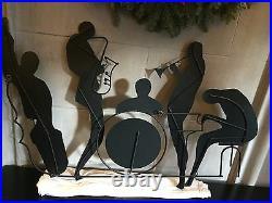 VINTAGE, SIGNED C. Curtis JERE Metal Wall Art Sculpture Jazz Band