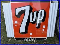 VINTAGE old 7UP METAL SIGN