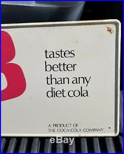 VTG RARE TaB Cola Advertising Metal Sign A Coca Cola Product Soda Pop 33-3/4