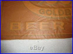 Vintage 1930's-40's NOS Cook's Beer Ale Embossed Metal Sign Brew Bar Liquor