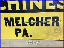 Vintage 1930's McCormick Deering Farm Machines Tractor 28 Embossed Metal Sign